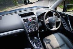 Subaru-de Testaandrijving van de Houtvester 2014 Optie op 12 Mei 2014 in Hong Kong Royalty-vrije Stock Foto