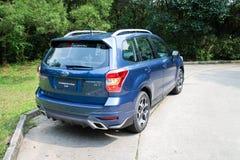 Subaru-de Testaandrijving van de Houtvester 2014 Optie op 12 Mei 2014 in Hong Kong Royalty-vrije Stock Fotografie
