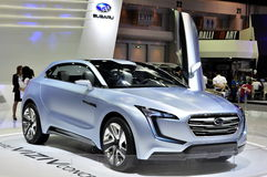 Subaru displays its 3-door concept car the Viziv Stock Image