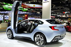 Subaru displays its 3-door concept car the Viziv Royalty Free Stock Photos