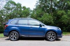 Subaru-Förster-Wahl-Probefahrt 2014 am 12. Mai 2014 in Hong Kong Lizenzfreie Stockbilder
