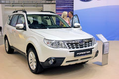 Subaru Forester. KIEV - SEPTEMBER 10: Subaru Forester at yearly automotive-show Capital auto show 2011. September 10, 2011 in Kiev, Ukraine Royalty Free Stock Photography