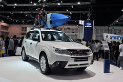 Subaru Forester on Display at a Motor Show Royalty Free Stock Photos