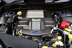 Subaru Forester 2014 Option Engine Royalty Free Stock Photo