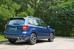 Subaru Forester 2014 Option Test Drive on May 12 2014 in Hong Kong. Stock Image