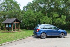 Subaru Forester 2014 Option Test Drive on May 12 2014 in Hong Kong. Royalty Free Stock Photos