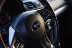 Subaru Forester SJ dashboard steering wheel royalty free stock photo