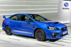 Subaru at the 2014 Geneva Motorshow. The new Subaru Impreza at the 2014 Geneva Motorshow Royalty Free Stock Image