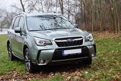 Subaru-Houtvester stock foto's