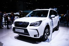 Subaru-Houtvester royalty-vrije stock foto