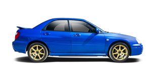 Subaru Imbreza. Isolated on white Stock Photo