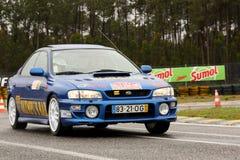 Subaru Imprenza durante la reunión Verde Pino 2012 Foto de archivo libre de regalías