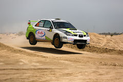 Subaru Impreza - 2012 Kuwait International Rally Royalty Free Stock Photo