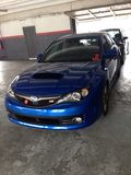 Subaru impreza. Blue car japan Stock Photography