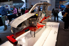 Subaru Impreza car chassis on display Royalty Free Stock Image