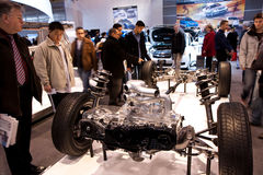 Subaru Impreza car chassis on display Royalty Free Stock Photo