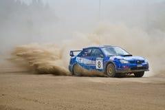 Subaru Impreza en la reunión Imagen de archivo