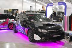 Subaru Impreza III Hecktürmodellauto Stockfotografie