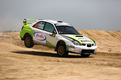 Subaru Impreza - Kuwait International Rally Royalty Free Stock Photos