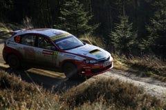 Subaru Impreza na reunião GB 2008 de Wales imagem de stock royalty free