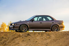 Subaru Impreza. NOVYY URENGOY, RUSSIA - AUGUST 30, 2015: Motor car Subaru Impreza at the countryside Royalty Free Stock Image
