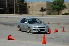 Subaru Impreza racing royalty free stock image