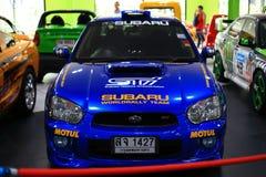 Subaru impreza. The racing car subaru impreza is the high performance racing Royalty Free Stock Image