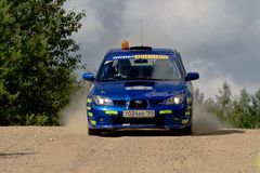 Subaru Impreza in rally Royalty Free Stock Image