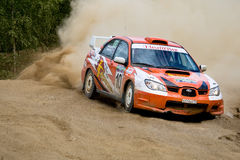 Subaru Impreza on rally Royalty Free Stock Images