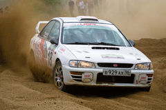 Subaru Impreza on rally Stock Image