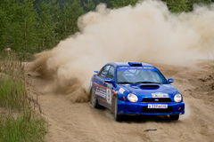 Subaru Impreza on rally Royalty Free Stock Photography