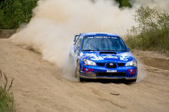 Subaru Impreza on rally Stock Photo