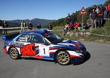 Subaru Impreza  rally car. Subaru Impreza  rally of  Val D'Aveto 2011 Stock Image