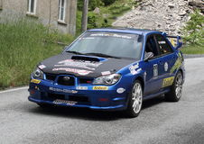 Subaru Impreza rally Royalty Free Stock Photography
