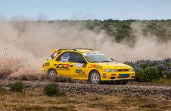 Subaru Impreza Rallycar Fotografia Stock