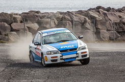 Subaru Impreza Rallycar Stock Photo