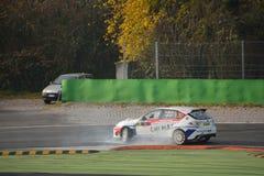 Subaru Impreza samlar bilen på Monza Royaltyfri Foto