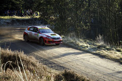 Subaru Impreza at Wales Rally GB 2008 Stock Image