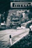 SUBARU IMPREZA WRC 1997 bieżnego samochodu stary wiec obraz stock