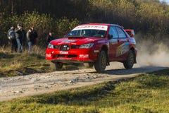 Subaru Impreza WRX STI  competes at the annual Rally Galicia Stock Photos