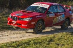 Subaru Impreza WRX STI  competes at the annual Rally Galicia Stock Images
