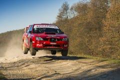 Subaru Impreza WRX STI  competes at the annual Rally Galicia Royalty Free Stock Photos