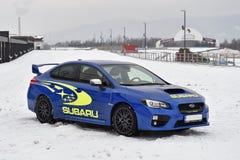Subaru Impreza WRX STI. In Most, Czech republic, January 26, 2017 Royalty Free Stock Image