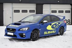 Subaru Impreza WRX STI. In Most, Czech republic, January 26, 2017 Stock Photography