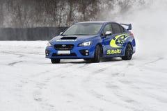 Subaru Impreza WRX STI. In Most, Czech republic, January 26, 2017 Royalty Free Stock Photo