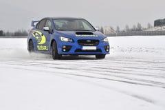 Subaru Impreza WRX STI. In Most, Czech republic, January 26, 2017 Royalty Free Stock Images