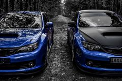 Subaru Impreza WRX STI Racecar跑车 库存照片
