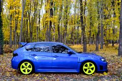 Subaru Impreza WRX STI Racecar跑车 库存图片