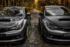 Subaru Impreza WRX STI Racecar跑车 免版税库存照片