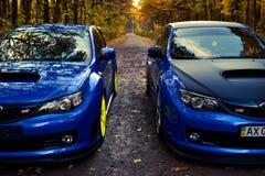 Subaru Impreza WRX STI Racecar Sport car Royalty Free Stock Photos